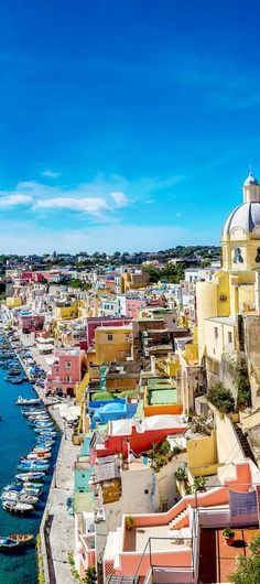 At the vibrant Procida Island in the Bay of Naples in southern Italy.