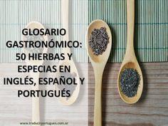 spice, especias, especiarias, gastronomia, traducción, translation, glossário…