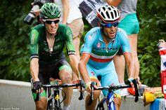 https://flic.kr/p/vGMupX | Pierre Rolland et Vincenzo Nibali dans la montée de la Toussuire - TDF 2015 | Le français du Team Europcar et l'italien d'Astana Pro Team en tête de la course dans l'ascension finale.  Tour de France 2015 Etape 19 (Saint-Jean-de-Maurienne / La Toussuire - Les Sybelles) - Savoie, Rhône-Alpes, France.  (07/2015) © Quentin Douchet.