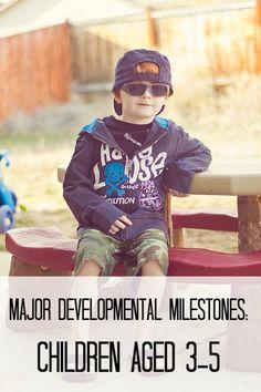 Major Developmental Milestones for Children Aged 3-5 | The Jenny Evolution