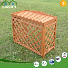 Easily Assembled Portable WPC Wood Air Conditioner Cover