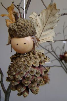 Woodland Fairy - Handmade Christmas ornament by DidymaDesigns on Etsy, $12.00                                                                                                                                                                                 More