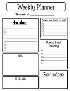"""FREE MISC. LESSON - """"Weekly Planner"""" - Go to The Best of Teacher Entrepreneurs for this and hundreds of free lessons. http://thebestofteacherentrepreneurs.blogspot.com/2012/04/free-misc-lesson-weekly-planner-sheet.html"""