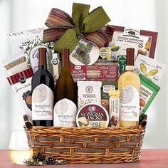 Wine Gift Baskets - California Wine Trio Gift Basket Walnut Cookies, Wine Gift Baskets, California Wine, Wine Gifts, Crackers, Wines, Treats, Sweet, Wine Baskets