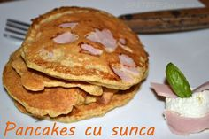 Pancakes cu sunca - RETETE DUKAN Dukan Diet, Pancakes, Breakfast, Food, Salads, Recipies, Morning Coffee, Essen, Pancake