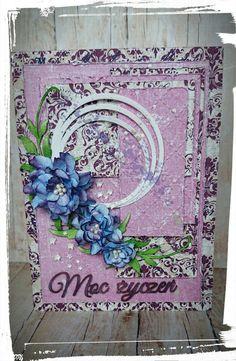 PapieremCzerpane: Kartka urodzinowa - fiolet