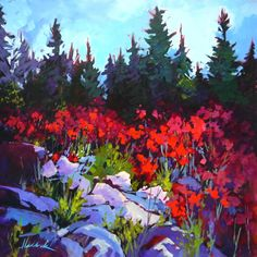 """30""""x30"""" Acrylic on canvas. SOLD at Just Imajan Gallery and Studio, Cochrane, AB."""
