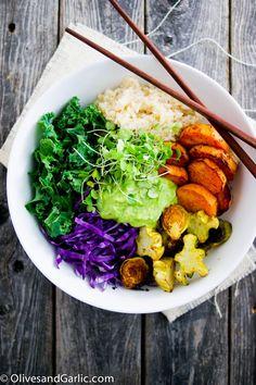 Buddha bowl aux légumes rôtis - On craque pour le Buddha bowl ! - Elle à Table