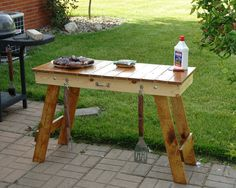 Hey, I found this really awesome Etsy listing at https://www.etsy.com/listing/122987772/portable-folding-legs-grill-table