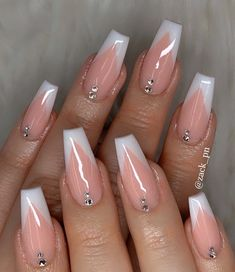 Trendy nails - - Knee high boots are the go-to choice for winter but do you know they can make your summer more styish than ever? See how to style knee boots. French Tip Acrylic Nails, Best Acrylic Nails, Summer Acrylic Nails, Summer Nails, Long French Tip Nails, White Tip Nails, Cute Acrylic Nail Designs, Winter Nails, Classy Nails