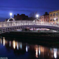 Ha'Penny Bridge  will walk this bridge in July oh yea 2012 bring it on