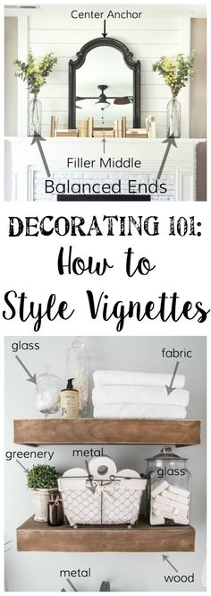 Need to style your mantle or shelves? Bless'er House has some great tips on how to make it look effortless.