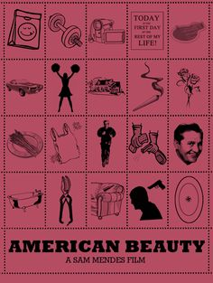 American Beauty (1999) ~ Alternative Movie Poster by Peter Stults ~ Film Plots Series #amusementphile