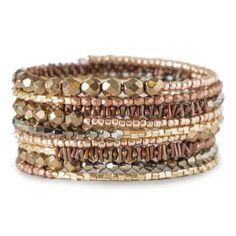Memory Wire Bracelet Kit by FusionBeads.com® - Metallic | Fusion Beads