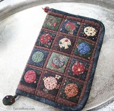 Quilted Kindle case - Moda jelly roll, Kansas Troubles