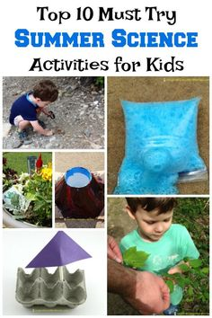 Summer is the perfect time to head outside and try these classic science ideas. These top 10 summer science activities are on our must try list. Summer Science, Science Activities For Kids, Kindergarten Science, Stem Science, Science Fair Projects, Science Experiments Kids, Science For Kids, Infant Activities, Learning Activities