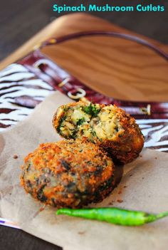 Spinach and Mushroom Fritters   #recipe  #juliesoissons