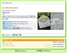 Implica't+ amb el jclic de la Carta de la Terra http://clic.xtec.cat/db/act_ca.jsp?id=3851