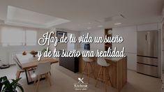 Porque un proyecto de amueblamiento va más allá de «escoger, comprar y colocar muebles». Se trata de conseguir el resultado que te aporte a ti y a los tuyos mayor confort y calidad de vida.  Y esto solo podemos conseguirlo si nos comprometemos contigo desde el mismo momento en que visitas una tienda Kitchen in.  Todo lo que hacemos tiene un objetivo: ayudarte a cumplir el sueño que tienes para tu hogar. ♥️ Kitchen In, Home Decor, Goal, Happy, Store, Furniture, Home, Projects, Decoration Home