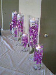 Wedding, Reception, Purple, Centerpiece