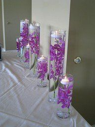 Wedding, Reception, Purple, Centerpiece