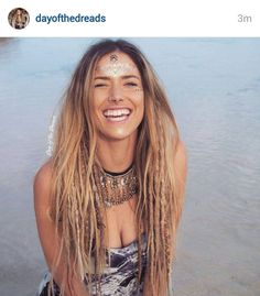 Honey Blonde Temp Dreadlocks Day of the Dreads by DAYOFTHEDREAD