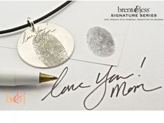 Mother's Love Pendant - by Brent & Jess Custom Handmade Fingerprint Wedding Rings and Jewelry