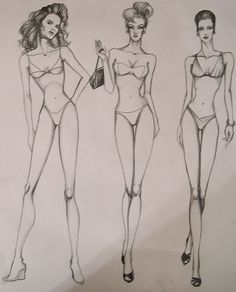 Fashion Figures by DarkCrea       Art Reference   Pinte    full figure sketch for class by die chan on DeviantArt fashion Illustrations