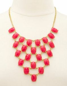 tiered oval stone necklace