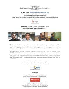 Conversaciones en el Observatorio: Voces Literarias de Colombia Harvard University, Cambridge, The Voice, Author, Spanish Language, Literature, Colombia, Writers