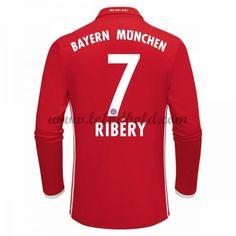 Billige Fodboldtrøjer Bayern Munich 2016-17 Ribery 7 Langærmet Hjemmebanetrøje