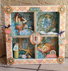Annette's Creative Journey: Graphic 45 Voyage Beneath The Sea shadow box.