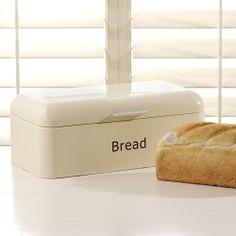 ProCook Retro Bread Bin Rectangular Cream Image 1