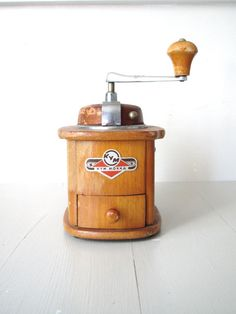 Vintage Coffee Grinder for my future retro kitchen!  -- by BeatriceInBlue on Etsy.