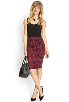 Love 21 - This stretch knit mini skirt has the comfort of casual basics with the polish of workwear, which makes it pretty much perfect for almost any occasion.  http://www.foxyblu.com/products/details/141840