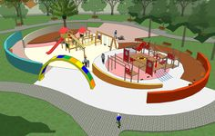 Landscape Plane, Landscape Architecture Drawing, Landscape Design Plans, Playground Design, Outdoor Playground, Paving Design, Urban Planning, Ideas, Architecture Models