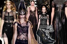 Many designers seem to have taken inspiration from the punk-rock and gothic scenes for their Spring/ Summer 2016 collections. The catwalks saw complete leather ensembles, ripped tights and stud embellishments at Sonia Rykiel and Valentino as well as copious amounts of gothic, black lace, lingerie effects and sheer mesh detailing at Marchesa.