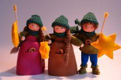 Jahreszeitentisch - Laternen-Mädchen Blumenkind Jahreszeitentisch - ein Designerstück von Katjas-Puppenstuebchen bei DaWanda