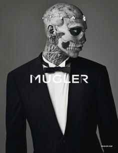 Rick Genest - Mugler