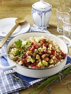 Zucchini-Reispfanne Rezept