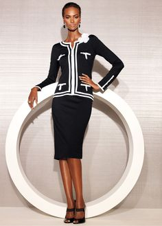 Blazer + skirt black/white - bonprix.co.uk
