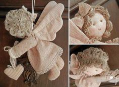 Винтажный ангелочек - мягкая игрушка, как сшить своими руками, с выкройкой