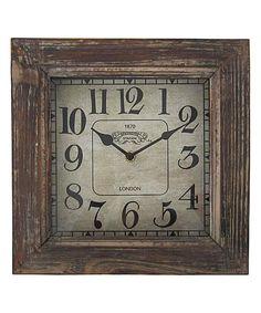 Look at this 11'' Square Wood Clock on #zulily today!