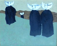 paintings of french nuns | Village Antiques: Original Oil - Nuns in Procession