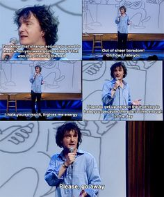Dylan Moran - Possibly my favorite clip! Funny Man, The Funny, Tamsin Greig, Dylan Moran, British Comedy, World Problems, Black Books, Sarcasm Humor, Oui Oui