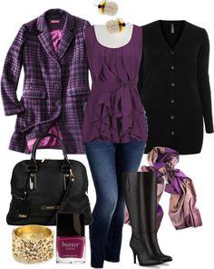 Purple Layers - Plus Size