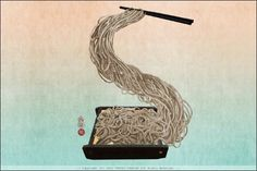 """S is for Soba - Japanese buckwheat noodles."" -- Gorgeous letters from artist Yoriko Yoshida, this site ""consists of the roman alphabet drawn out of elements from Japanese culture."" Click through for a treat and see her ""Asialphabet."""