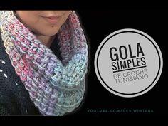 Gola Simples de #crochê Tunisiano - Artes da Desi - YouTube