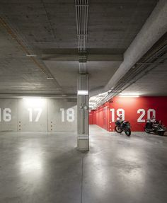 Gallery of Portuguese Football National Team Headquarters / Risco - 22 Parking Signs, Car Parking, Parking Lot, Exterior Design, Interior And Exterior, Park Signage, Wayfinding Signs, Grey Ceiling, Tiny House Nation
