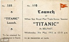 A New York auction house has sold an original ticket to the 1912 launch of the Titanic for $56,250.